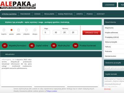 Serwis kurierski - alepaka.pl - przesyłki kurierskie