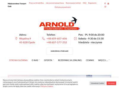 """Transport osób Polska Holandia – szybko i bezpiecznie – """"Arnold"""""""