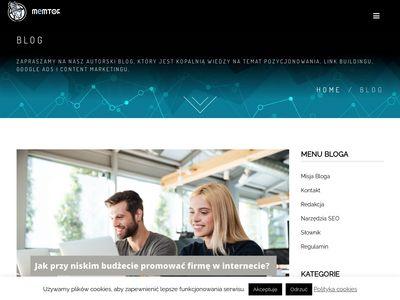 Blog Memtor- reklama w internecie