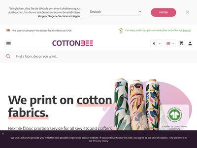 Cottonbee.pl - materiały do szycia ubrań