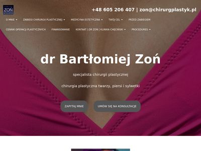 Chirurg Plastyk dr Bartłomiej Zoń plastyka brzucha