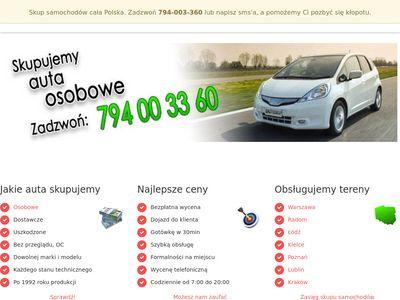 Skup samochodów Warszawa, Radom, Kraków