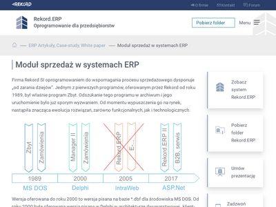 Systemy ERP - Sprzedaż