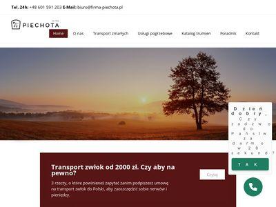 Firma-Piechota.pl - Międzynarodowy transport zwłok