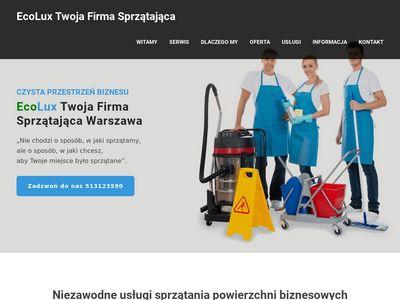 ECOLUX sprzątanie biur w Warszawie