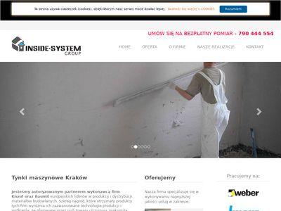 Tynki maszynowe Kraków - inside-system.pl