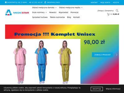 Odzież medyczna - Medicstar Producent