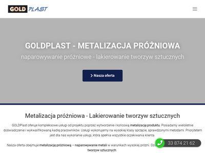 Metalizowanie próżniowe Goldplast