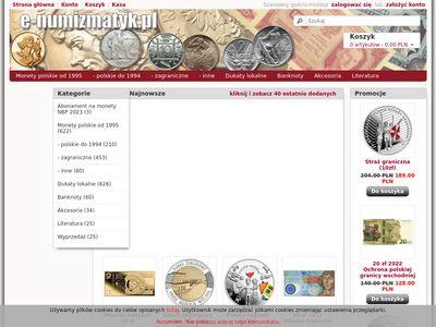 Sklep numizmatyczny, monety srebrne, monety okolicznościowe