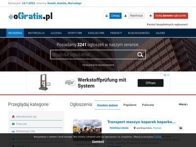 oGratis.pl - dodaj zlecenie