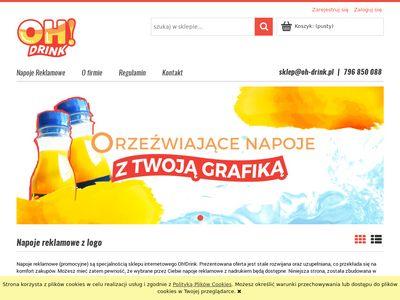 Oh-drink.pl - napoje z logo