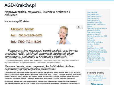 Naprawa AGD Kraków tel. 505-295-825