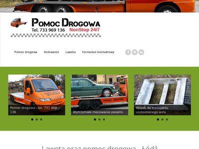 Pomoc drogowa, holowanie, laweta Łódź