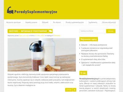 PoradySuplementacyjne.pl - odżywki i suplementacja