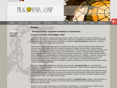 LOTRONIC Producent lamp mosiężnych