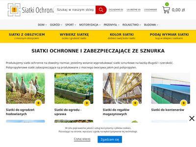 Siatkiochronne.eu - siatki sznurkowe