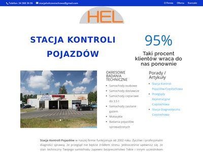 Przeglądy rejestracyjne Częstochowa firma Hel