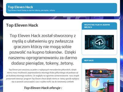 Top Eleven Hack - Dodaj tokeny, pieniądze, żetony