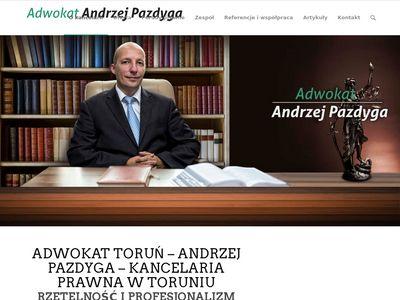 Adwokat Andrzej Pazdyga