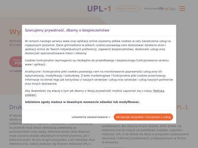 Formularz UPL-1