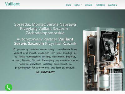 Serwis, Naprawa, Montaż, Przegląd kotłów, pieców gazowych – Vaillant Szczecin