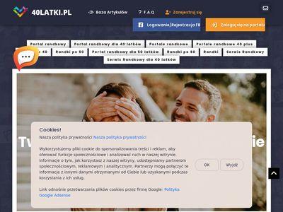 Miłość na portalu randkowym 40latki.pl