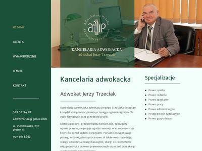 Adwokat ŁÓDŹ JERZY TRZECIAK