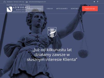 Adwokat Rzeszów Krzysztof Dolot, Obsługa Prawna Firm, Odszkodowania, Rozwody