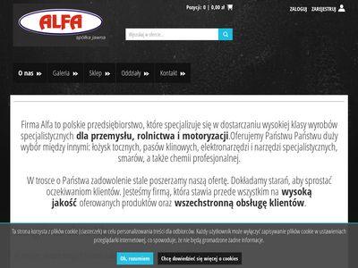 ALFA SP.J. łożyska kulkowe iława