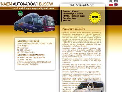 Wynajem autokarów i busów - Rzeszów