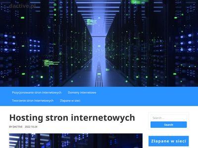 Świadczymy solidny i tani hosting www