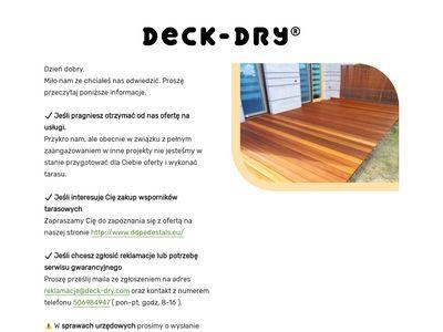 Deska tarasowa cena Warszawa