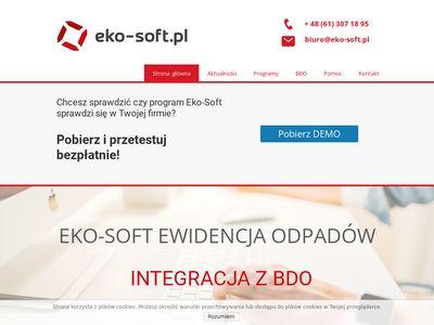 Programy do ewidencji odpadów firmy Eko-Soft: Recykling, ZSEiE