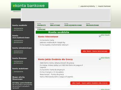 Konto osobiste w banku internetowym