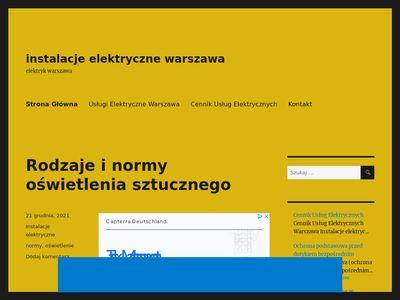 Elektryk Warszawa Awarie Instalacje Elektryczne