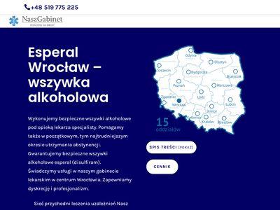 Leczenie chorób alkoholowych - esperal Wrocław
