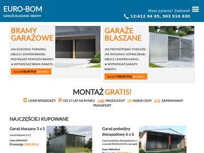 Blaszaki małopolska, garaże blaszane Kraków bramy garażowe