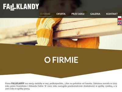 Fallklandy – produkcja bębnów kablowych, tarcicy, palet, opakowań, więźby dachowej