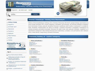 Katalog moderowany - finanse, księgowość