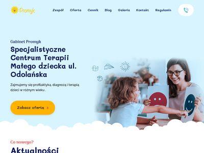 Gabinet Promyk - Psycholog Dziecięcy, Integracja Sensoryczna, Logopeda Dziecięcy | Warszawa