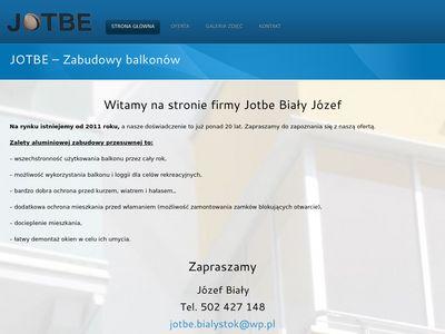 Jotbe - Zabudowy balkonów Białystok