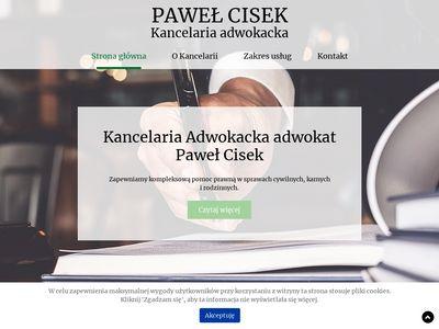 PAWEŁ CISEK adwokaci Łańcut