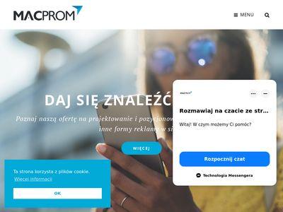 Macprom projektowanie i pozycjonowanie stron