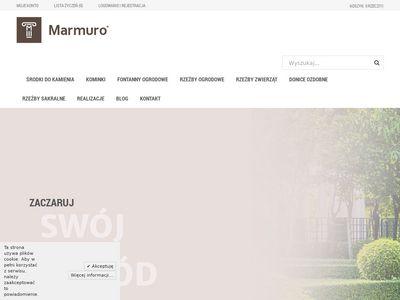 Kominki z kamienia, rzeźby i fontanny ogrodowe - marmuro.pl