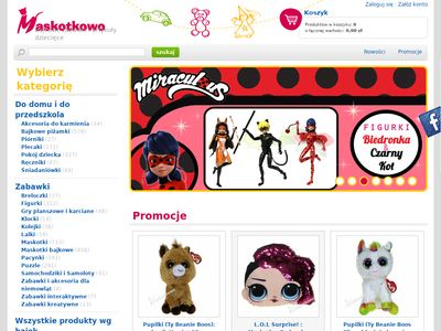 Zabawki - maskotki, kolejki, gry planszowe