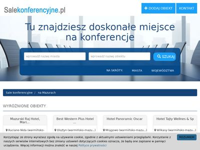 Sale konferencyjne na Mazurach