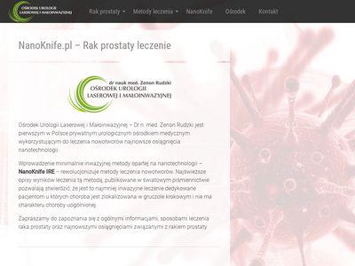 NanoKnife.pl homepage