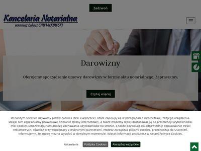 ŁUKASZ CHWIAŁKOWSKI akt notarialny Toruń