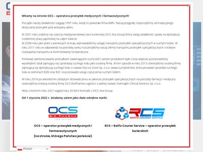 Transport przesyłek farmaceutycznych