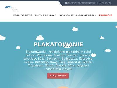 Plakatowanie Warszawa